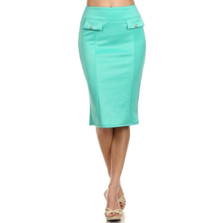 c4fa3598bdd MOA Collection - Plus Size Women s Trendy Style Solid Pencil Skirt -  Walmart.com