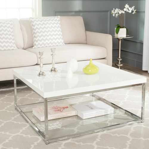 Safavieh Malone Chrome High Gloss Coffee Table