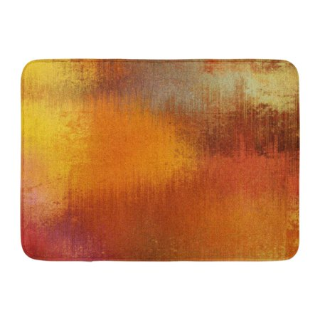 GODPOK Retro Watercolor for in Orange Red Gold Beige Yellow Grey and Brown Blots Abstract Carpet Rug Doormat Bath Mat 23.6x15.7