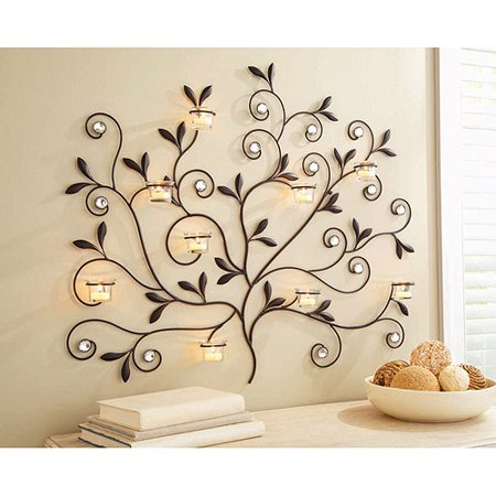 better homes and gardens tree votive sconce oil rubbed. Black Bedroom Furniture Sets. Home Design Ideas
