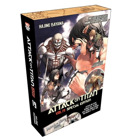 Attack on Titan 19 Special Edition w/DVD (Art Attack Halloween Special English)