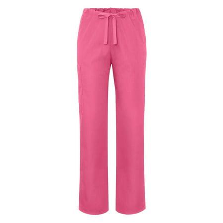 Rhinestone Drawstring Pants (Adar Universal Unisex Natural-Rise Drawstring Tapered Leg Pants Petite - 504P - Geranium - XL)