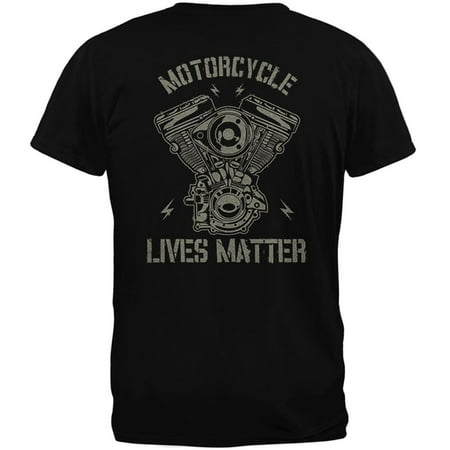 About Motorcycles T-shirt - Motorcycle Lives Matter Mens Soft T Shirt