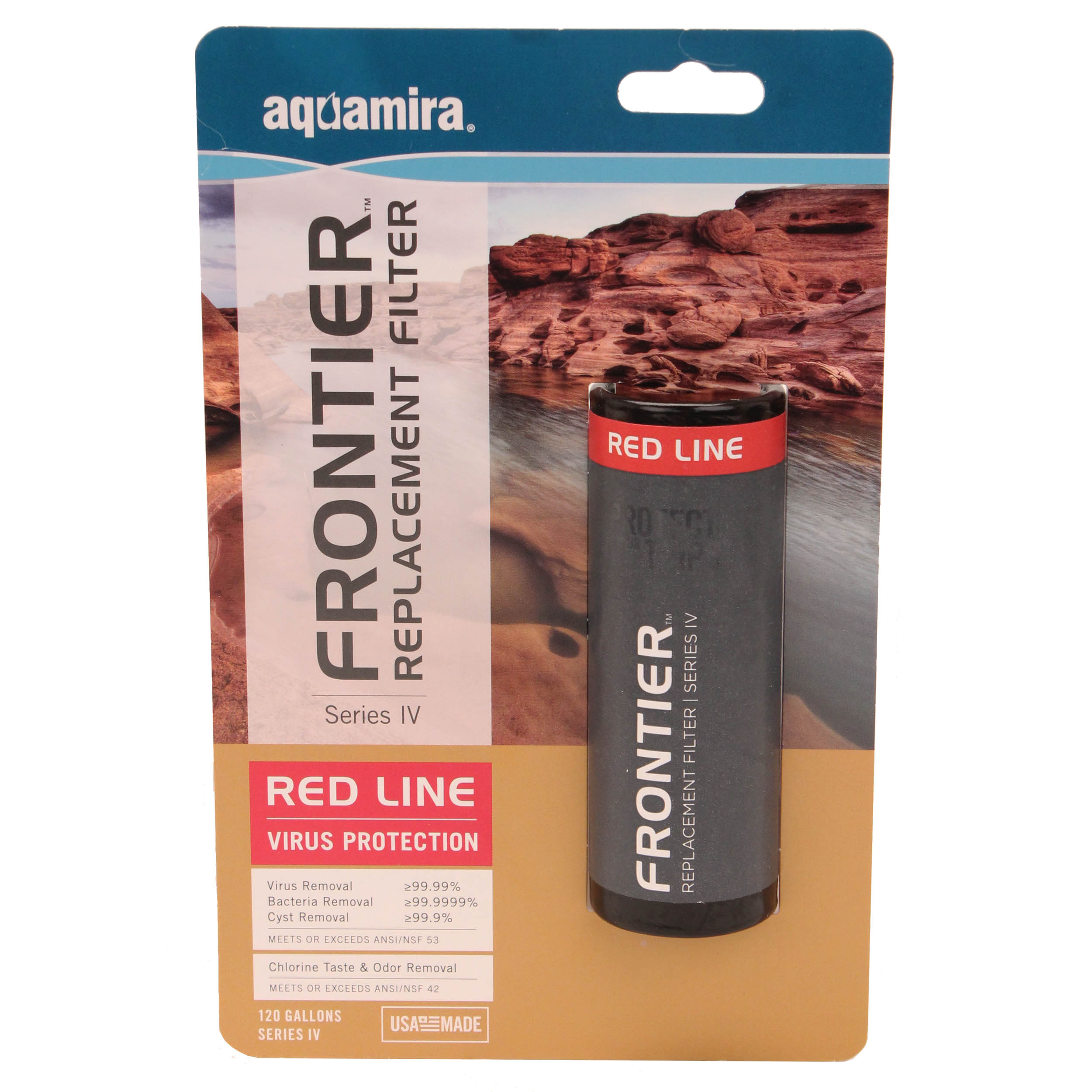 Aquamira Frontier Max Replacement Filter RED IV, 120 Gallons