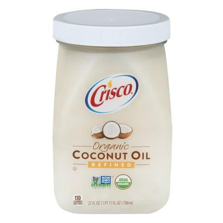 Crisco Organic Refined Coconut Oil, 27 0 FL OZ