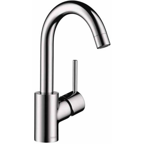 Hansgrohe 32070821 Talis S Bathroom Faucet Single Hole Faucet Lever Handle and 360-Degree Swivel, Various Colors