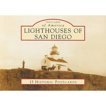 Old Postcard Lighthouse (Lighthouses of San Diego : 15 Historic Postcards )