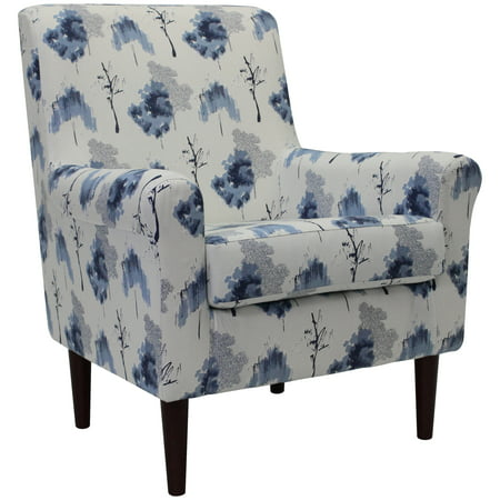 Mainstays Raelynn Rolled Arm Lounge Chair Multiple Colors