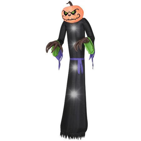 The Holiday Aisle Pumpkin Reaper Giant Inflatable (Giant Halloween Grim Reaper Inflatable Archway)