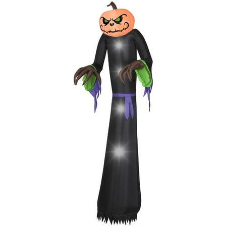Inflatable Halloween Grim Reaper Pumpkin Carriage (The Holiday Aisle Pumpkin Reaper Giant)
