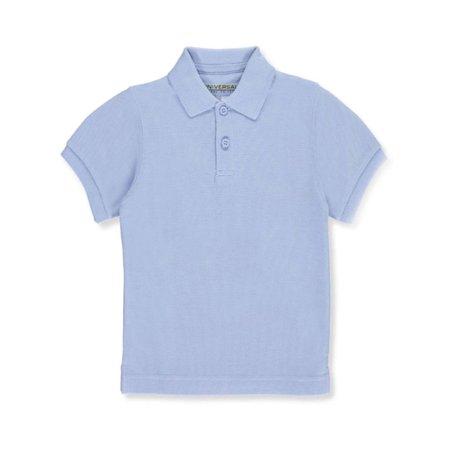 Unisex Boys Girls Short Sleeve Pique Polo Shirt w/Stain Release (Short Sleeve Pique Polo Shirt)