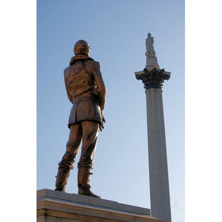 Canvas Print Monument Aviator Keith Parks London Stretched Canvas 10 x 14 (Aviator London)