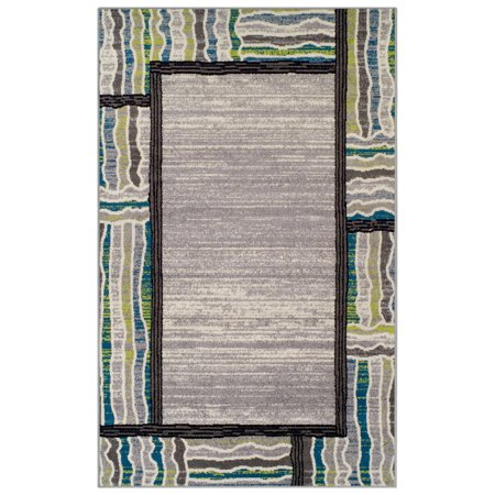 Superior Gem Border Collection with 6mm Pile and Jute Backing, Moisture Resistant and Anti-Static Indoor Area Rug