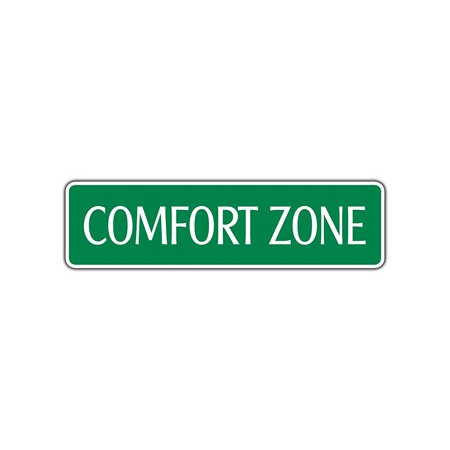 Comfort Zone Aluminum Metal Novelty Street Sign Wall Decor 4 X18