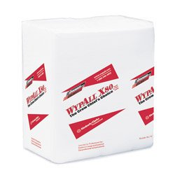 WypAllX80 X80 HYDROKNIT Wipes 1/4 Fold White, 12.5