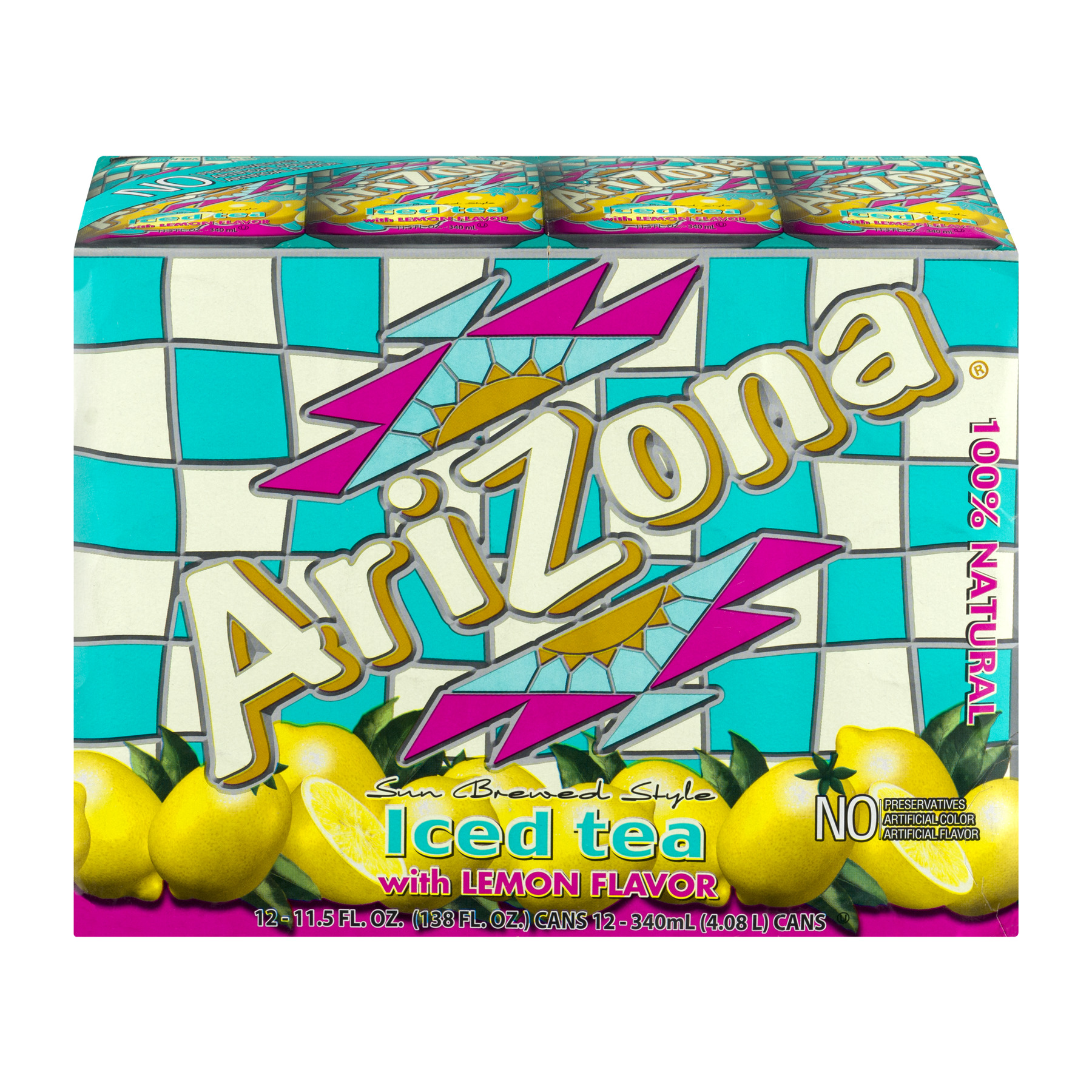Arizona Iced Tea with Lemon Flavor - 12 CT12.0 FL OZ