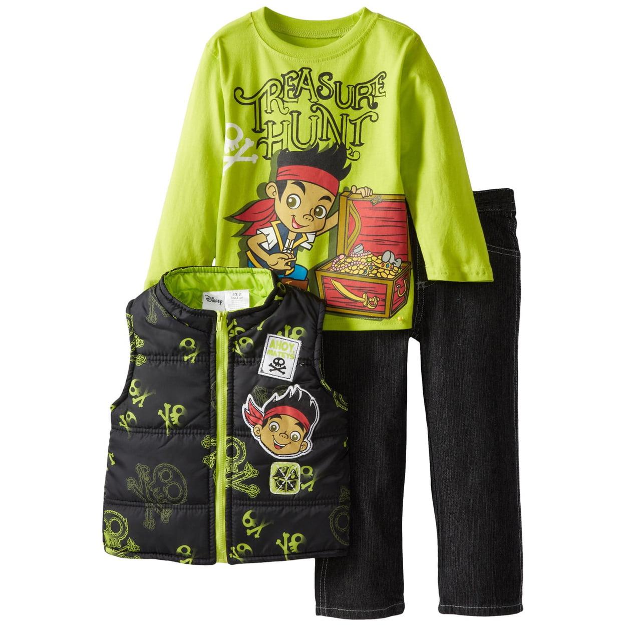 Jake and the Never Land Pirates Boys 3 piece Tee Vest Pants Set 8J6207
