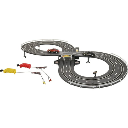 Digital Slot Car Racing (Kid Connection 37-Piece Road Racing Track Play Set, Battery Operated )