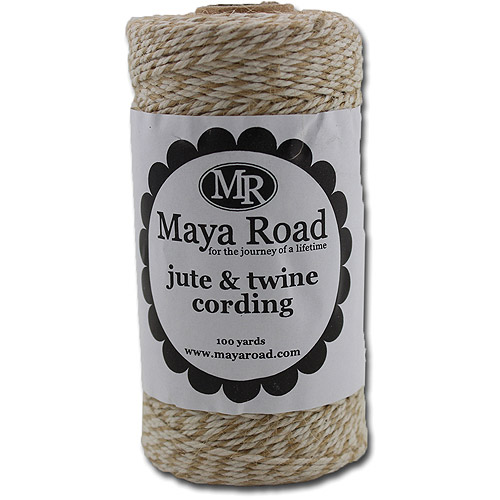 Jute and Twine Cording 100yd -Natural