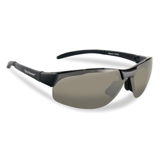 Flying Fisherman 7812BY Maverick Polarized Sunglasses, Black Frames ...
