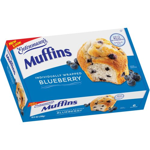 Entenmann's Blueberry Muffins, 10.5 oz, 6 count