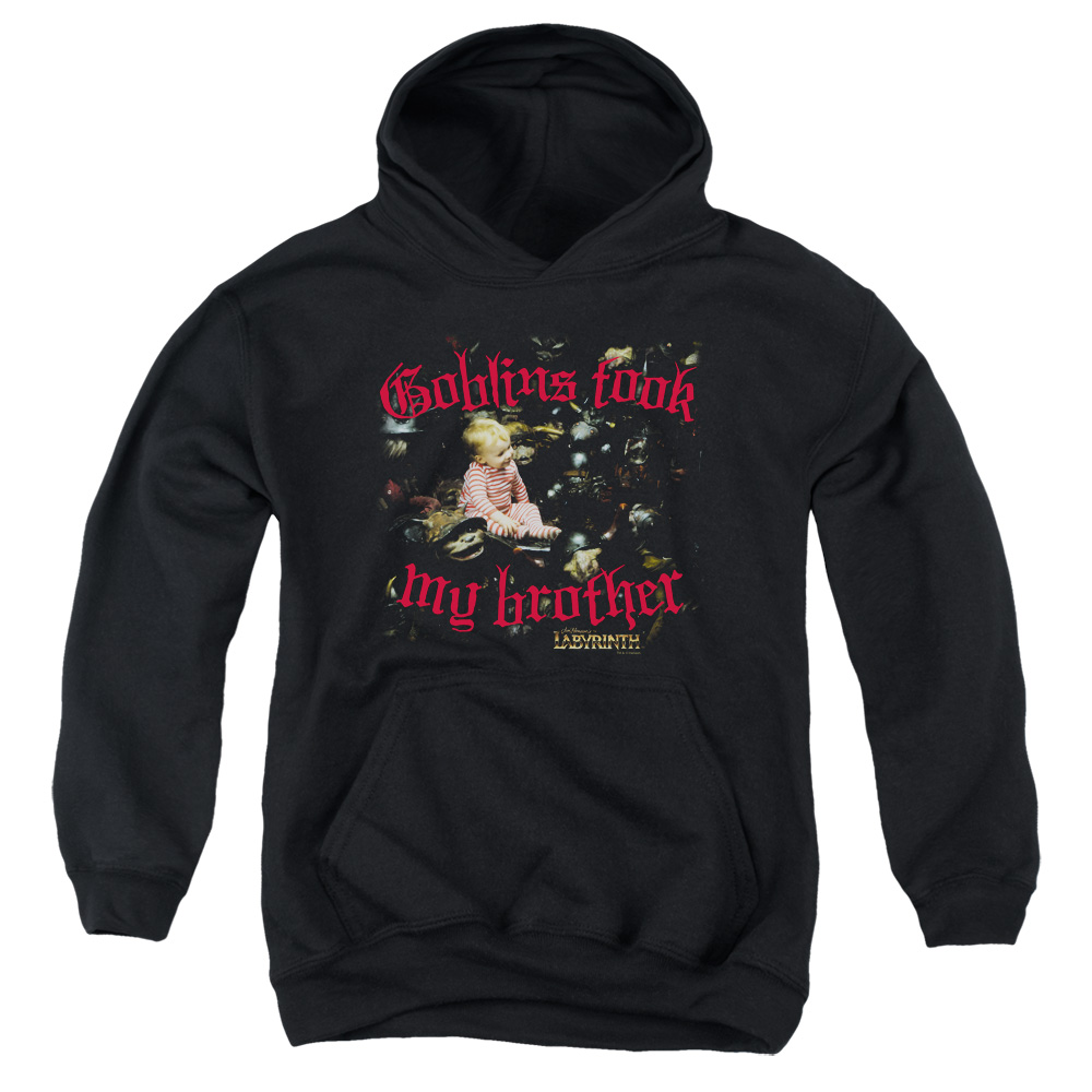 Labyrinth Goblins Took My Brother Big Boys Pullover Hoodie