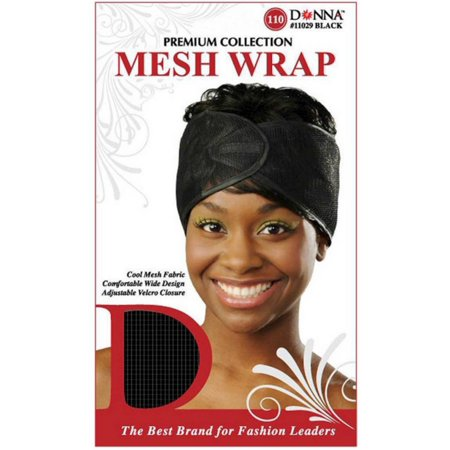 2 Pack - Donna collection  Mesh Wrap, Black 1 ea