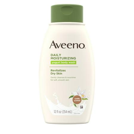 Aveeno Daily Moisturizing Yogurt Body Wash for Dry Skin, 12 fl.