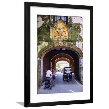 Entrance Gate to the Old Town of Galle Framed Print Wall Art By Matthew  Williams-Ellis