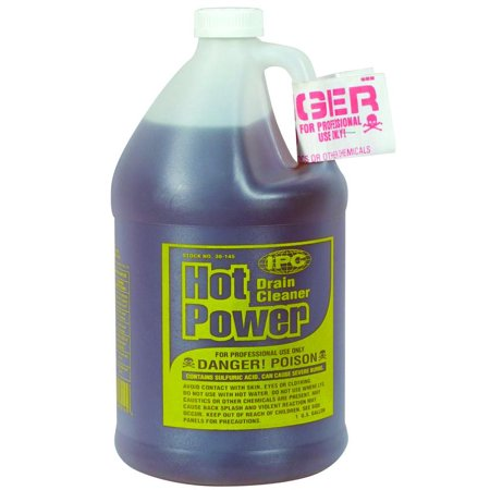 Hot Power 30 145 Drain Cleaner  1 Gal  Bottle  Clear To Amber  Liquid