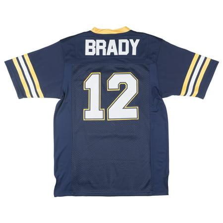 de47abdda HeadGear Tom Brady High School Football Jersey Super Bowl NFL Mens Replica  - Walmart.com