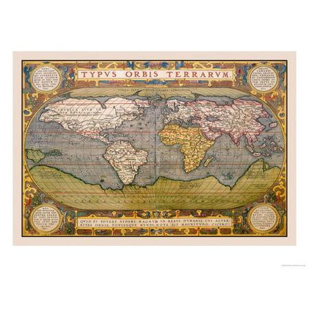 World Map Print Wall Art By Abraham Ortelius