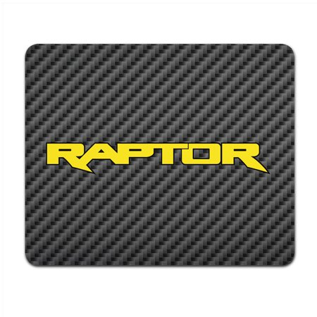 Ford F-150 Raptor 2017 Yellow Black Carbon Fiber Texture Graphic PC Mouse -