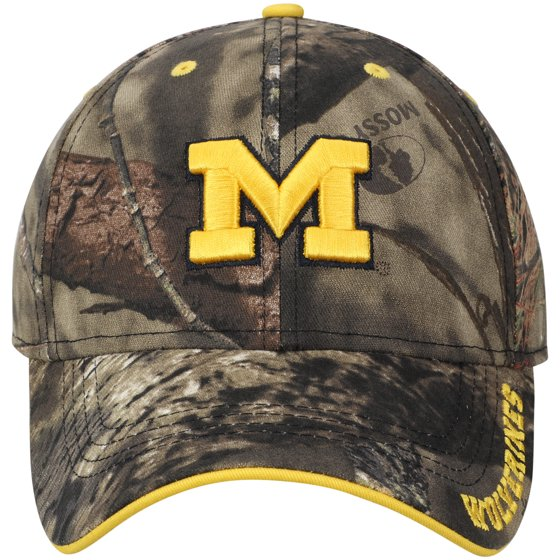 best service ef51d b8e75 Michigan Wolverines Mossy Oak Clean Up Adjustable Hat - Camo - OSFA -  Walmart.com