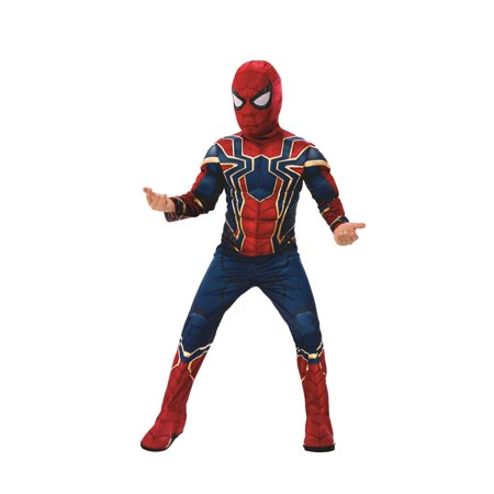 Marvel Avengers Infinity War Iron Spider Deluxe Boys Halloween Costume (Retro Basketball Halloween Costumes)