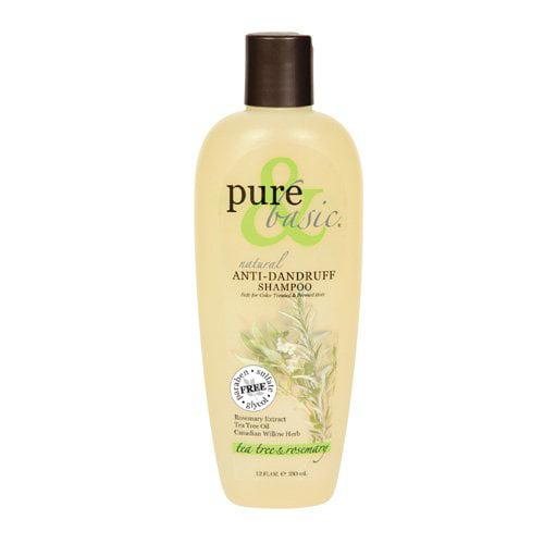 Pure And Basic Natural Shampoo Anti Dandruff Tea Tree And Rosemary - 12 Oz
