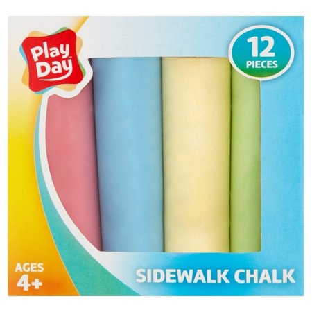 Play Day Sidewalk Chalk, 12 Piece