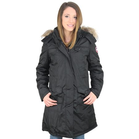 canada goose faux fur jacket womens