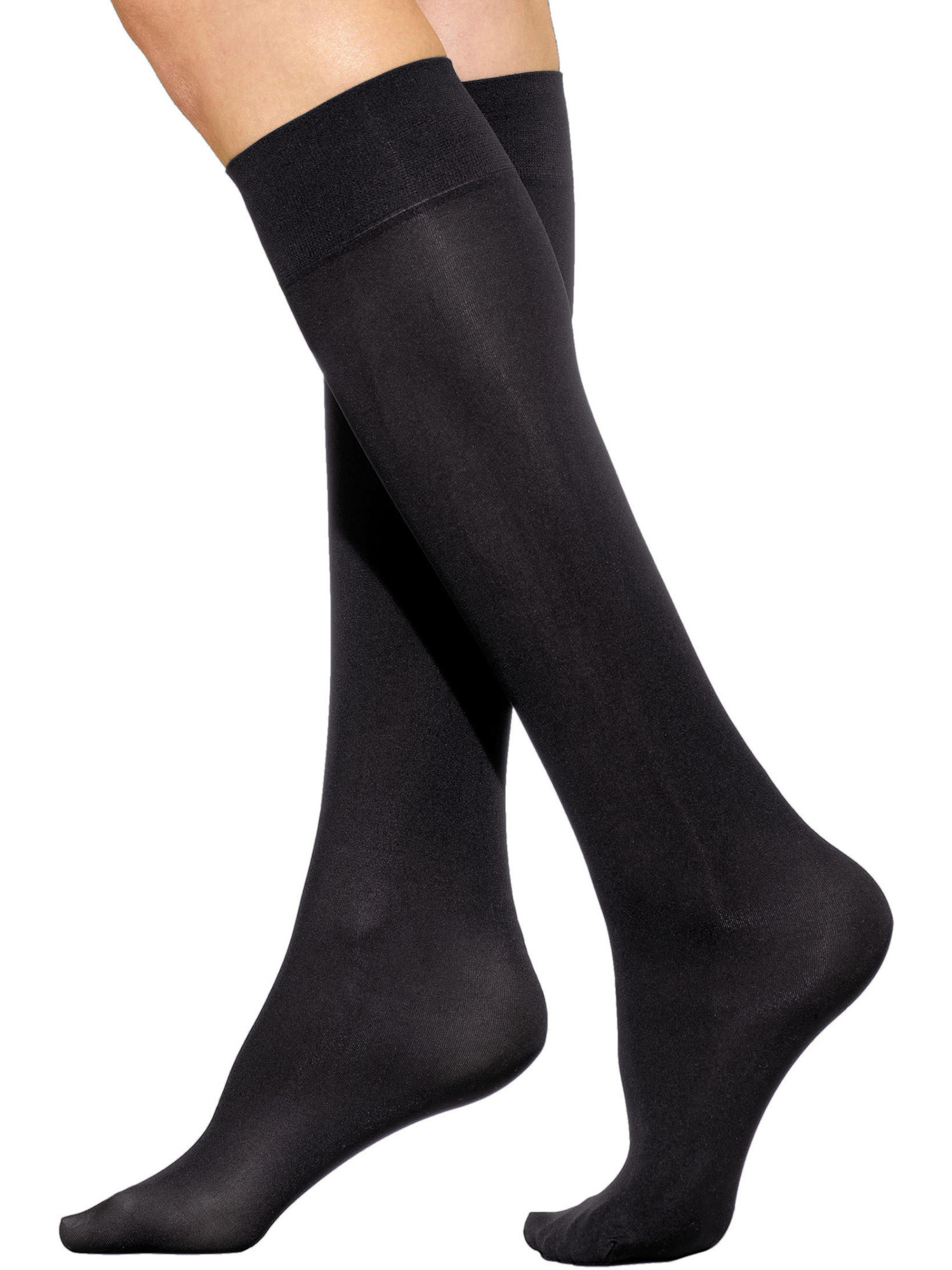 Knee Hi Socks Trouser Opaque 6 Colors White Black Brown Navy Nude or Grey