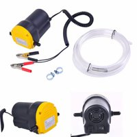 ROLLBACK!Electric Fuel Pump Diesel Bio Kerosene Oil Transfer Extractor Black & Yellow