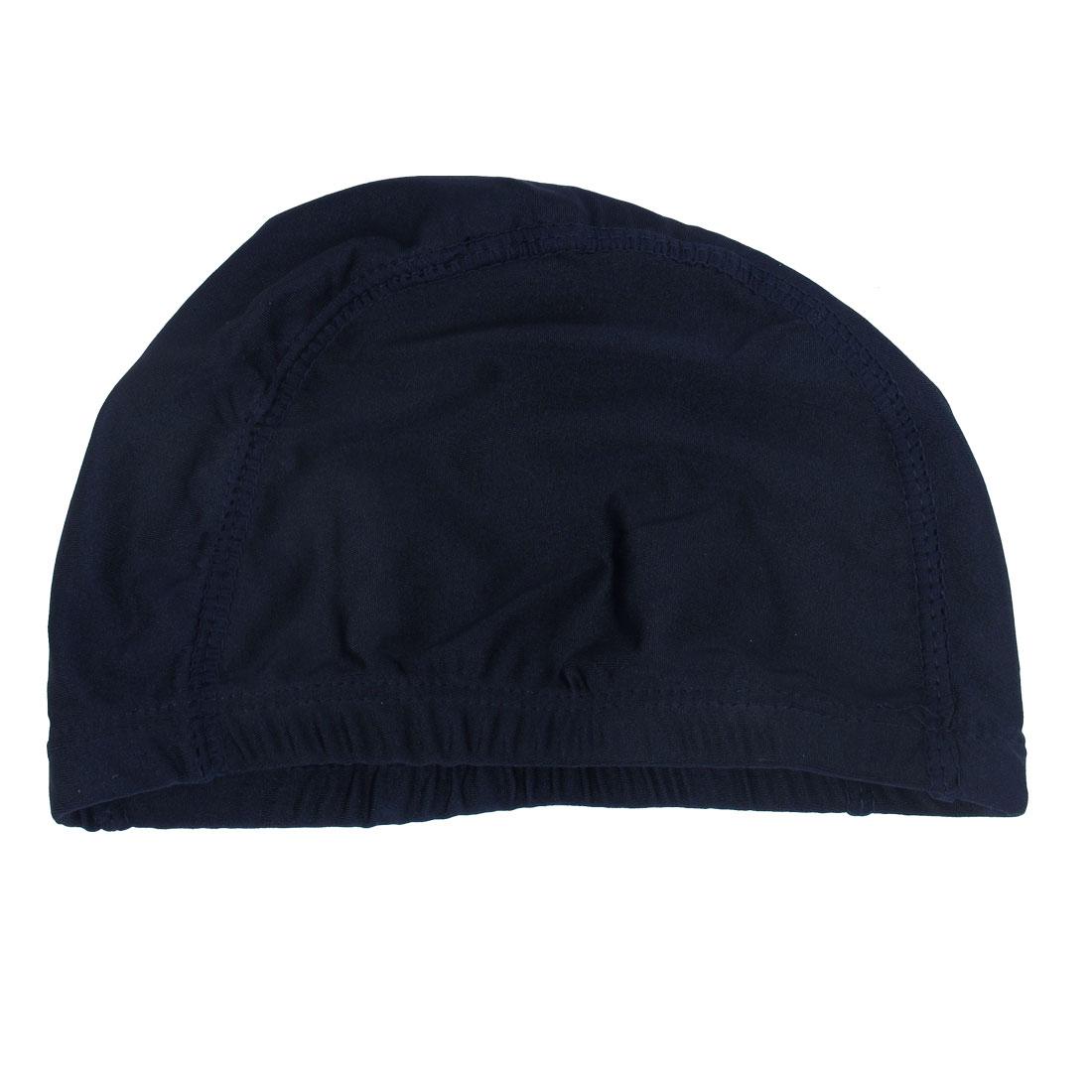 Unique Bargains Woman Man Stretchy Fiber Cotton Cloth Swimming Swimmer Cap Hat Blue by Unique-Bargains