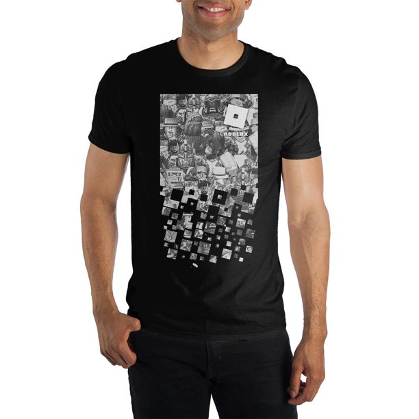 Roblox Group Character Images Bioworld Roblox Character Group Men S Black T Shirt Tee Shirt Walmart Com Walmart Com