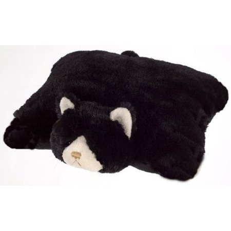 Plush   Plush  Brand Small Black Cat Pet Pillow  11   Inches My Friendly Toy Kitty Cushion