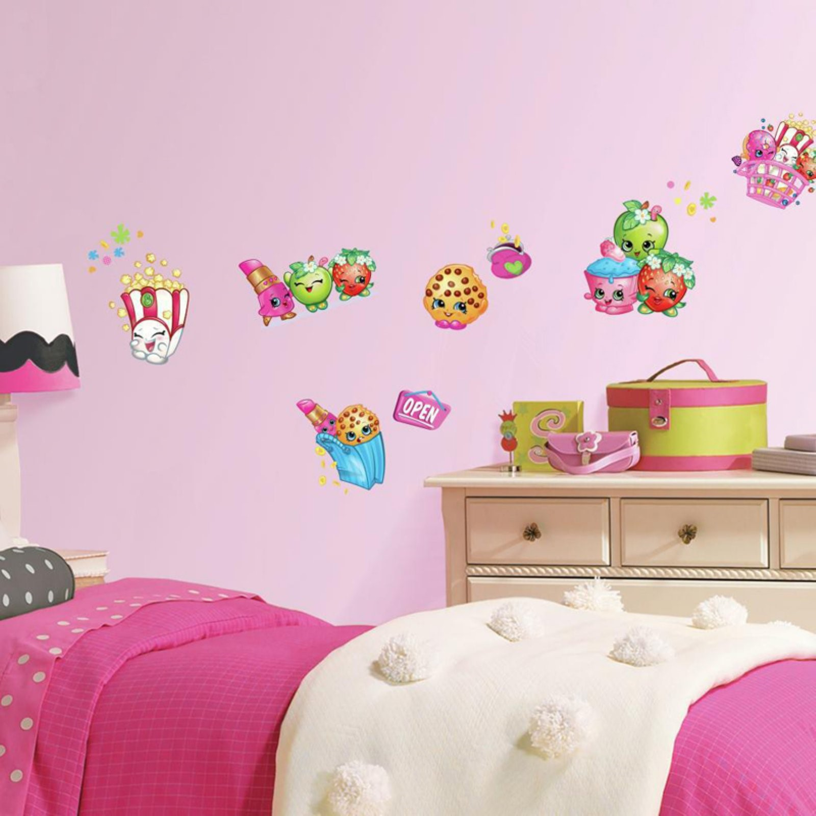 RoomMates Shopkins Peel and Stick Wall Decals Walmartcom