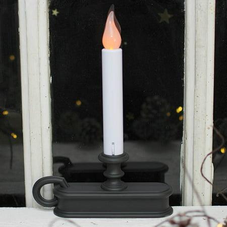 christmas lights window candle amber led battery op auto sensor aged. Black Bedroom Furniture Sets. Home Design Ideas