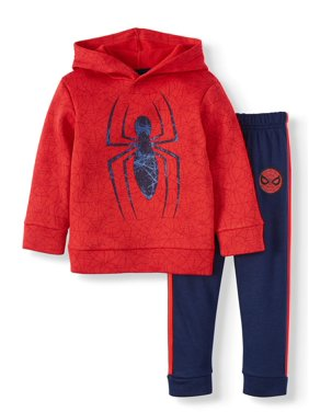 Spiderman Pullover Hoodie & Taped Jogger, 2pc Outfit Set (Toddler Boys)