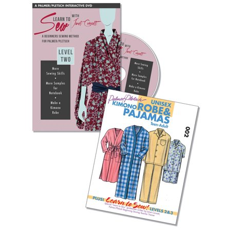 Learn to Sew with Janet Corzatt — Level TWO — Plus Robe/Pajama Pattern : A Beginners Sewing Method for Palmer/Pletsch - Beginner Level