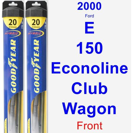 2000 Ford E-150 Econoline Club Wagon Wiper Blade Set/Kit (Front) (2 Blades) - Hybrid