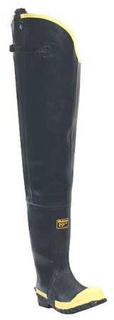 Lacrosse Size 14 Steel Toe Hip Boots, Men's, Black, 109050