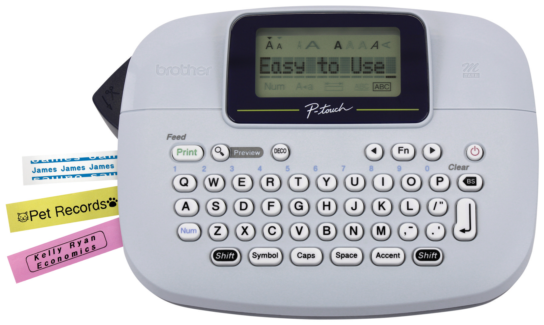 Brother P Touch Pt M95 Handheld Label Maker Walmart